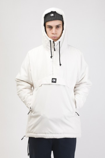 Chrome 3 Anorak White Microfiber
