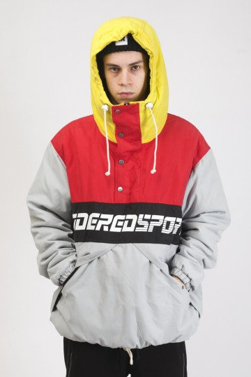Анорак Superblaster 2 Серый светлый/Красный винтаж/Желтый яркий/Черный
