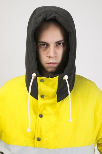 Анорак Superblaster 3 Желтый яркий/Серый темный/Черный/Серый светлый