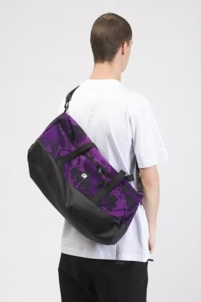 Сумка Duffle Фиолетовый Камуфляж