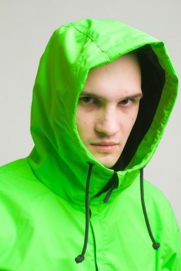 Легкий Анорак с Подкладкой Font 3 Флюр Зеленый/Черный