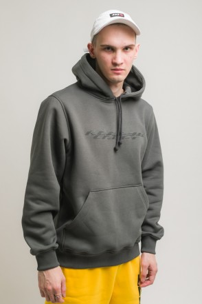 Hood Up Hoodie City Gray Dynamic Font