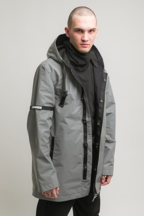 Upfront 2 COR Raincoat Gray Reflective