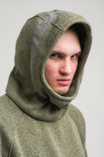 Толстовка Hood COR Зеленый Полевой Меланж