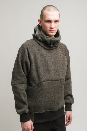 Hood COR Sweatshirt Dark Bog Green Melange