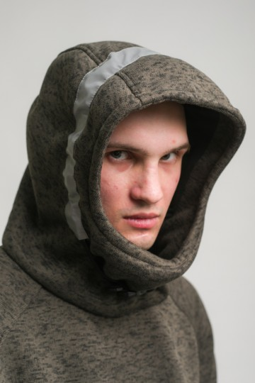Толстовка Hood COR Болотный Темный Меланж