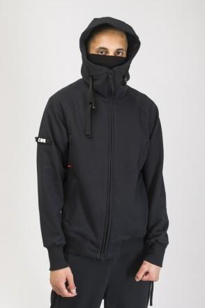 Zip 2 COR Hoodie Black