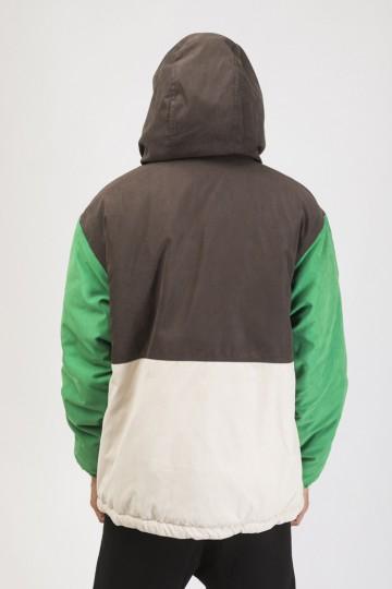 Анорак Superblaster 3 Коричневый/Зеленый Яркий/Бежевый/Молочный