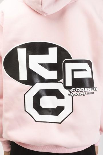 Толстовка Hood Up Розовый бледный CRS Cyrillic