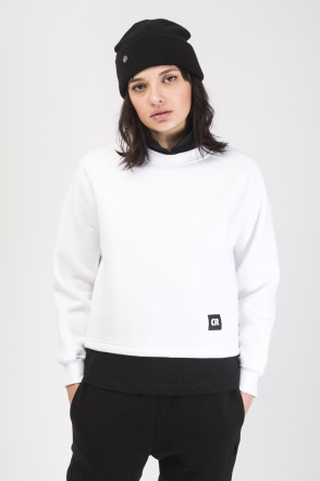 Firm Cut Crew-neck White