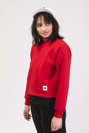Firm Cut Crew-neck Red