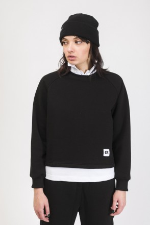 Firm Cut Crew-neck Black