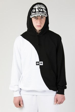 Two Phase Hoodie Summer Black/ White