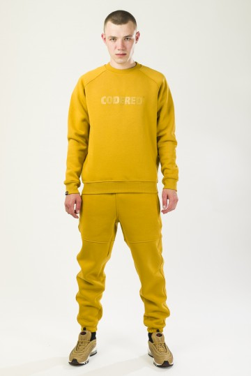Firm Crew-neck Mustard Logo R