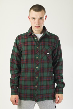 Harbor Slim Shirt Forest Green/Vintage Red/Black/Blue