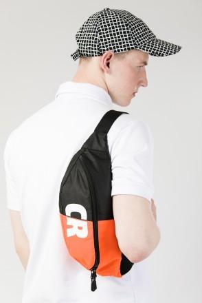 Hip Bag Large Black / Orange Fluorescent Oxford Honeycomb