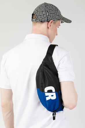 Hip Bag Large Black/ Cornflower Blue Oxford Honeycomb