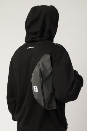 Сумка поясная Hip Bag Large Черный Светоотражающий