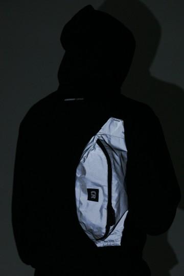 Сумка поясная Hip Bag Large Светоотражающий Серый