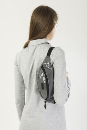 Hip Bag Shiny Gray Art. Leather