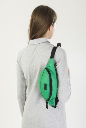 Сумка поясная Hip Bag Зеленый Светлый Кожзам