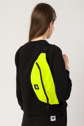 Hip Bag Large Reflective Fluorescent Lemon