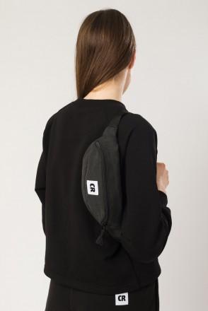 Сумка поясная Hip Bag Черный Микрофибра