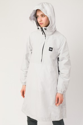 Mob Long Anorak Ash Gray