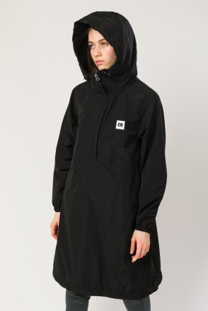 Mob Long Anorak Black