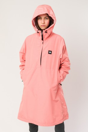 Mob Long Anorak Salmon Pink