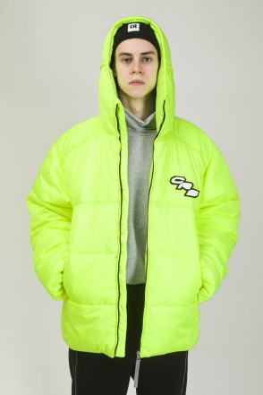Puffed Jacket Fluorescent Reflective Lemon