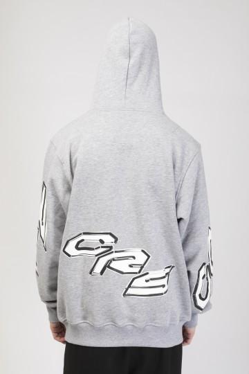 Hood Up Hoodie Gray Melange CRS 2000