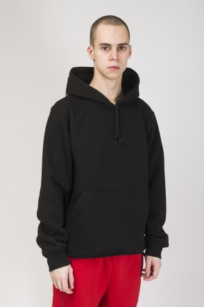 Hood Up Hoodie Black Glow Outline Cyrillic