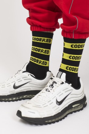 Носки Logo Stripes Socks Черный/Желто-черное лого