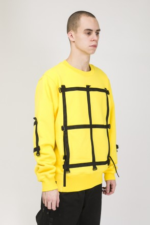 Mesh Strap COR Crew-neck Yellow