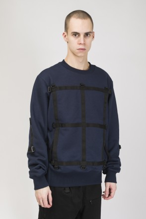 Mesh Strap COR Crew-neck Dark Blue