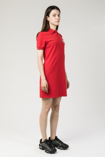 Платье с коротким рукавом Adress Красный