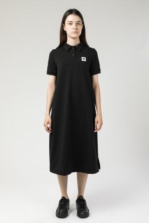 Платье с коротким рукавом Direct Черный