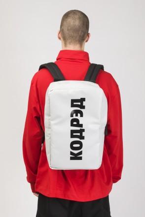 Brick Slim Backpack White Teza