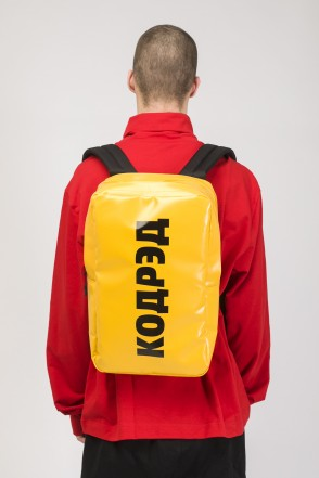 Brick Slim Backpack Yellow Teza