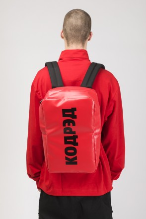Brick Slim Backpack Red Teza
