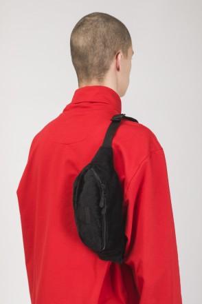 Сумка поясная Hip Bag Черный Мех