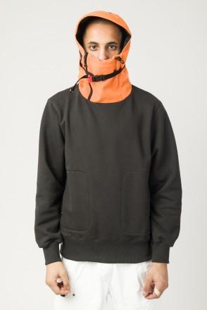 Толстовка Shinobi COR Антрацит Темный/Оранжевый