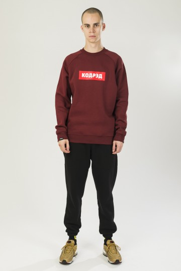 Firm Crew-neck Bordo Boxlogo Cyrillic