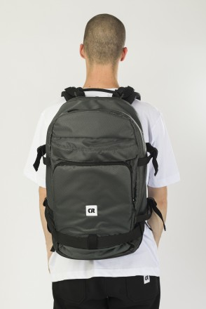 Tour Backpack Bog Green Oxford/Black Art.Leather