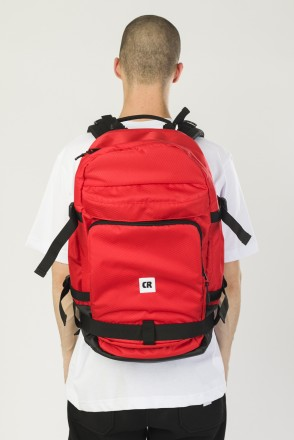 Tour Backpack Red Oxford/Black Art.Leather