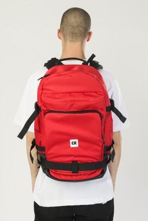 Рюкзак Tour Красный Соты Оксфорд/Черный Кожзам