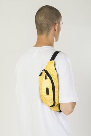 Hip Bag Yellow Art. Reptile Leather