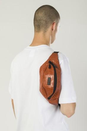 Hip Bag Reddish Art. Crocodile Leather