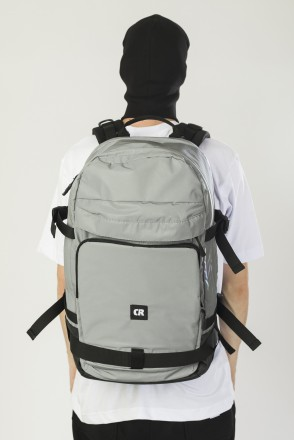 Tour Backpack Reflective Gray/Black Art.Leather